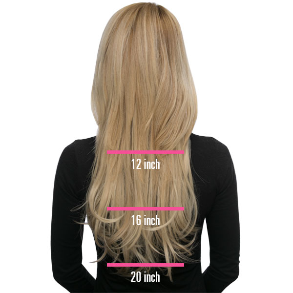Choose between 12, 16 and 20 inch hair. Add volume and style instantly with pre-cut and layered hair extensions. #loxextensions www.loxhairextensions.com